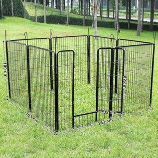 Huismerk Puppyren 8 hoekig 100 cm. hoog zwart