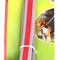 Huismerk Hondenriem Reflecterend Grijs Rood 120 cm.