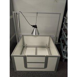Hundos  Beugel voor warmtelamp passend bij werpkist120x120x60 cm.