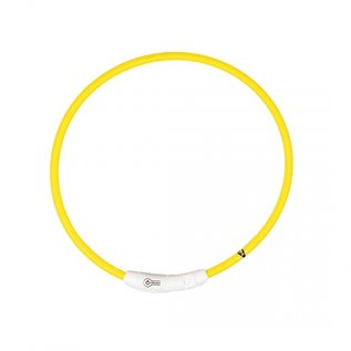 Duvo+ Flash light ring usb nylon Geel 65 cm
