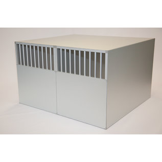 Hundos  Hundos Pro  Aluminium Autobench Recht Model Dubbel 100x110x67 met spijlen