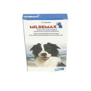 Milbemax Ontwormings tabletten voor honden 5-75 kg 2 stuks