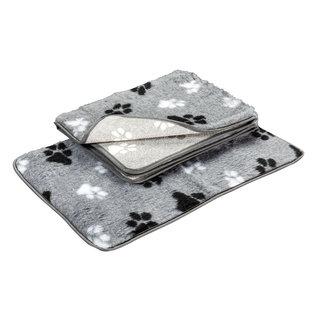 Hundos  Vetbed grijs met voetprint