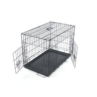 KLD Hondenbench zwart met benchverkleiner S 76x45x52 cm.