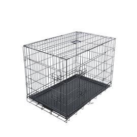 KLD Hondenbench zwart met benchverkleiner M 91x57x64 cm.