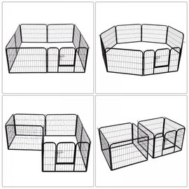 KLD Puppyren 8 panelen van 77 x 60 cm. zwart