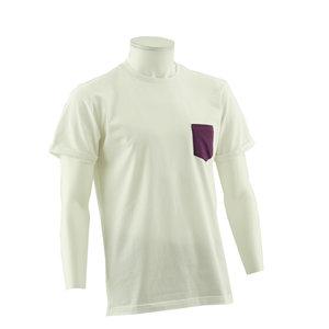 T-shirt Casual Purple Pocket