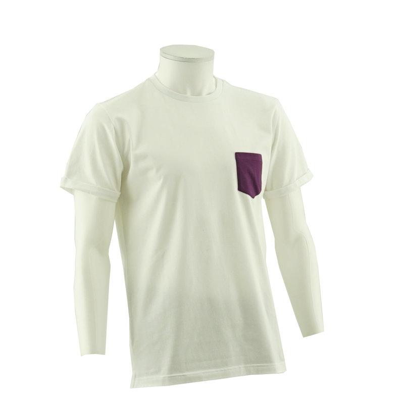 Beerschot T-shirt Casual poche poitrine