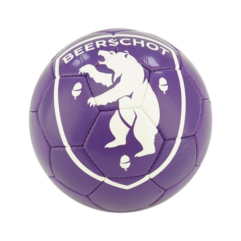 Beerschot Bal paars logo wit maat 5