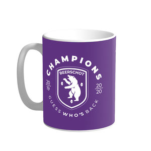Personalised mug purple - name + number