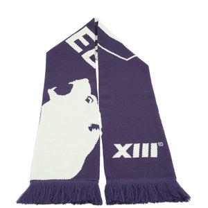 Sjaal paars XIII groot logo