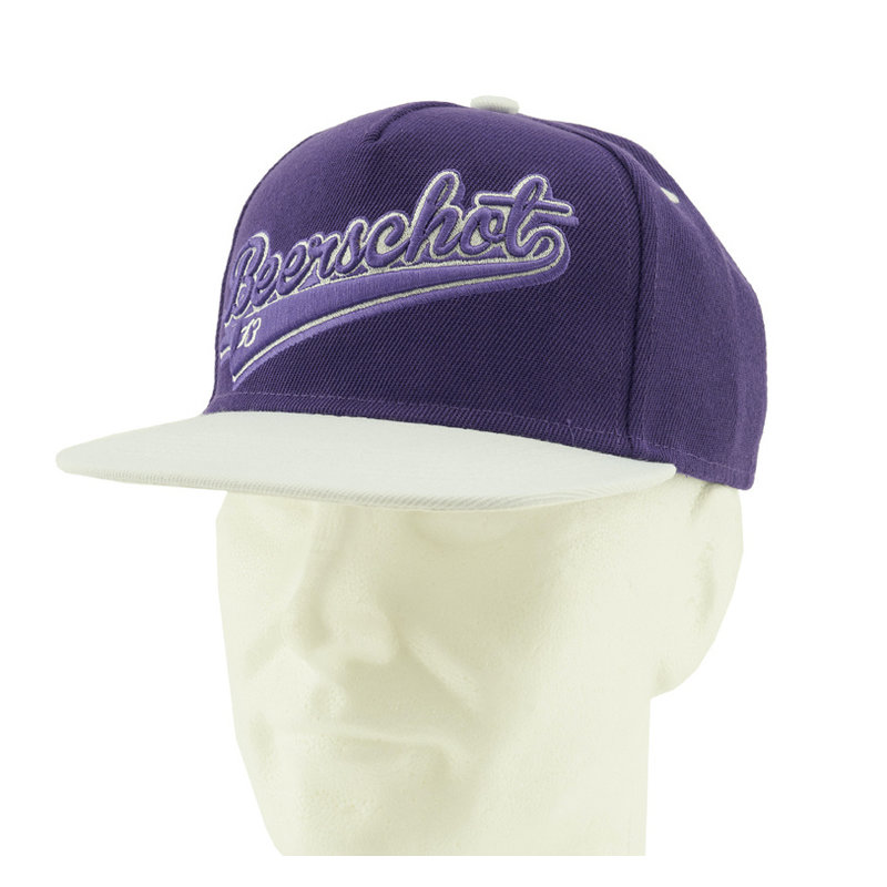 Beerschot Snapback paars kids - rubber patch