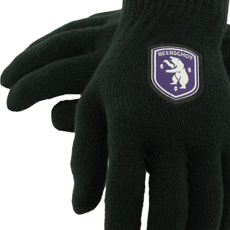 Beerschot Gants noir logo - L