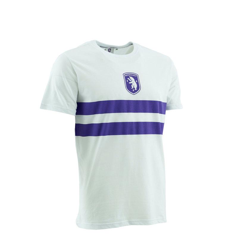 Beerschot T-shirt Logo Striped