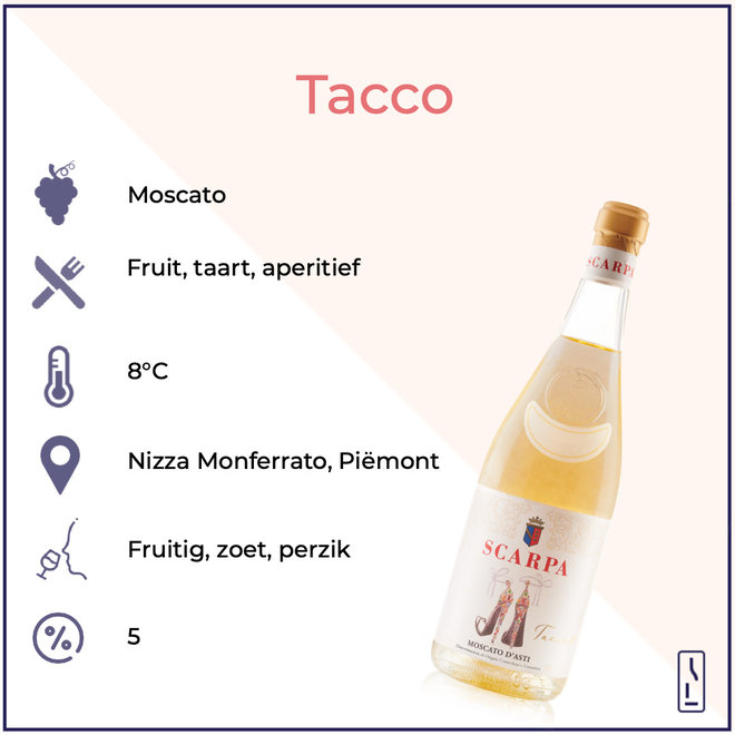 'Tacco' Moscato D'Asti DOCG 2019