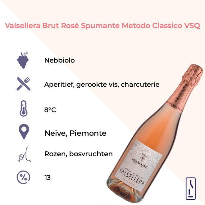 Valsellera Brut Rosé Spumante Metodo Classico VSQ