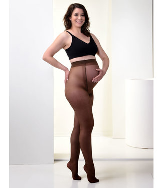 Mamsy Collants de grossesse 20den Marron