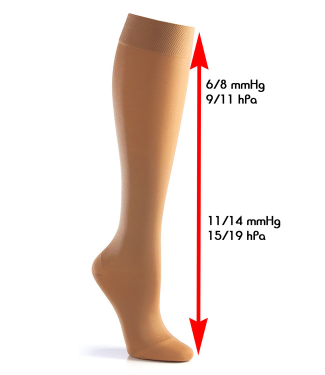 Mamsy Duo Pack Knee High Sock with support Beige