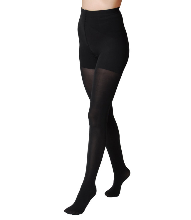Omero Form Up 50den Black Opaque matte Tights which is Slimming and modelling.