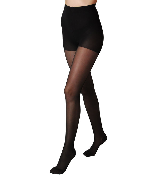 Segreta 140 Young Tights with Strong Support and Shaping Panty - Black
