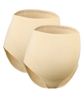 Mamsy Duo Pack Maternity BRIEFS Beige