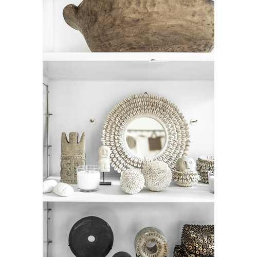 The Small Sumba Stone on Stand - White