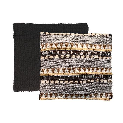 The Fully Beaded Macrame Cushion