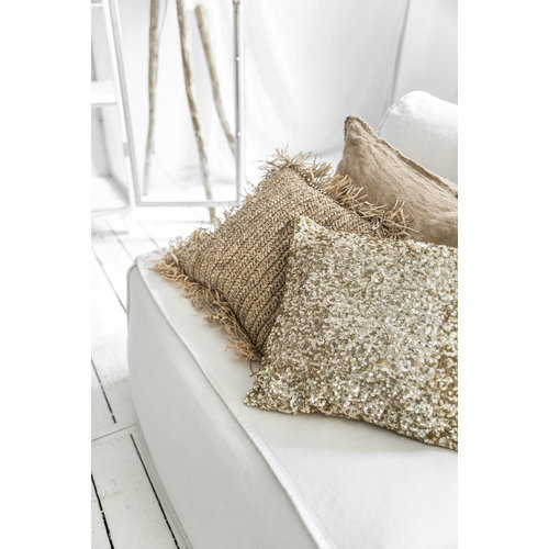 The Raffia Cushion Square - Natural - M