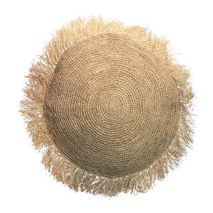 The Raffia Cushion Round
