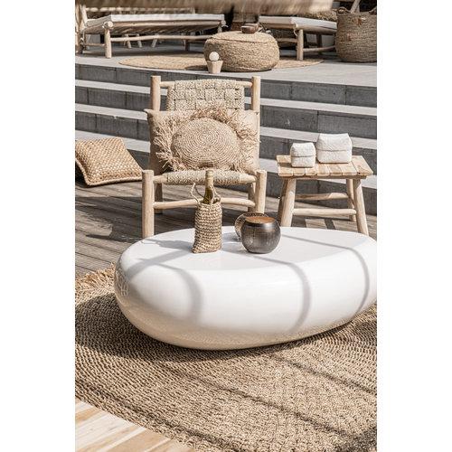 The Raffia Cushion Round - Natural - M