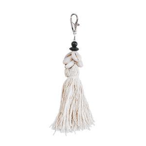 The Cowrie Tassel Keychain