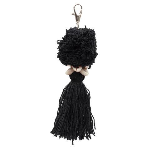 The Pompon Keychain - Black