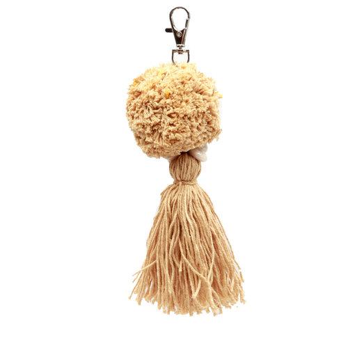 The Pompon Keychain - Mocca