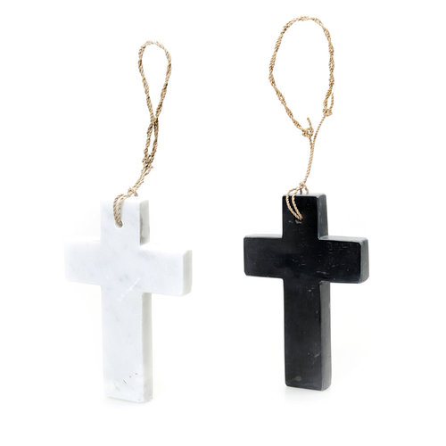The Hanging Cross Marble - White - M