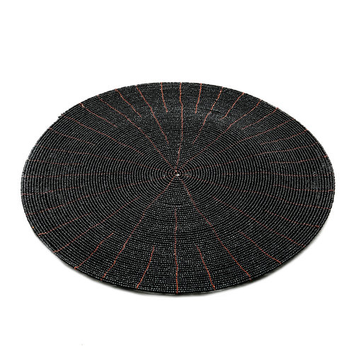 The Beaded Placemat - Black