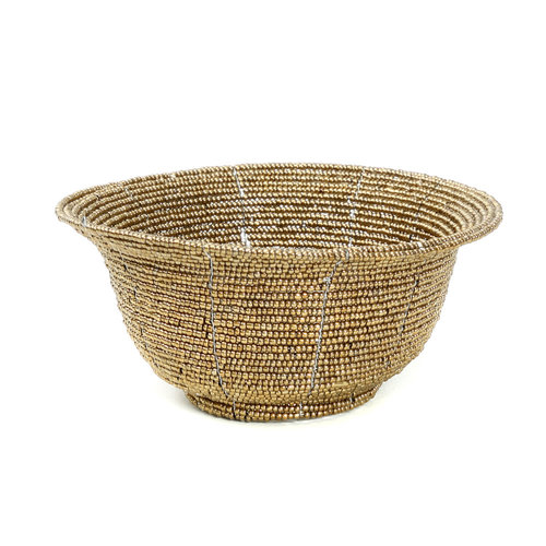 The Beaded Bowl Low - Gold - S