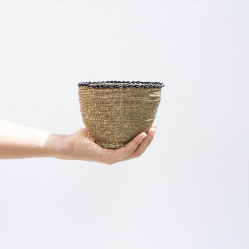 The Beaded Candy Bowl  - Gold - M