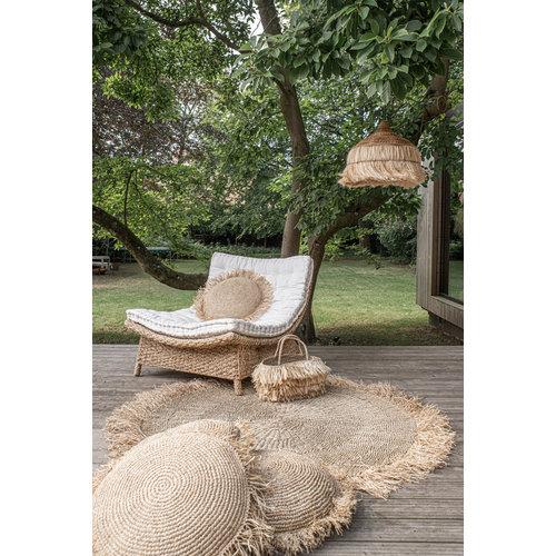 The Raffia Fringed Carpet - Natural