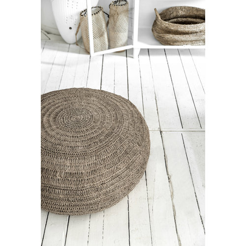 The Seagrass Pouffe - Natural - L