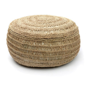 The Seagrass Pouffe maat M