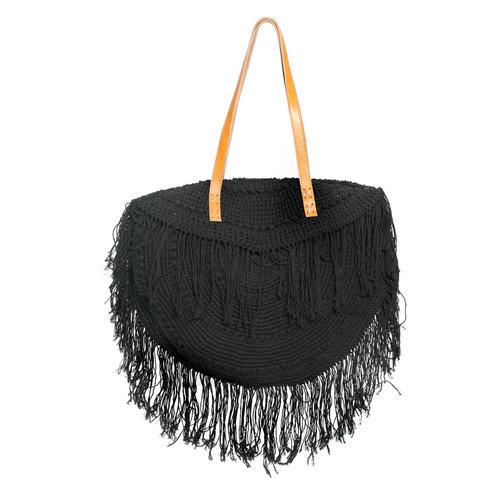 The Fringed Tulum Bag - Black