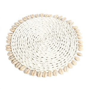 The Seagrass Shell Pan Coaster wit