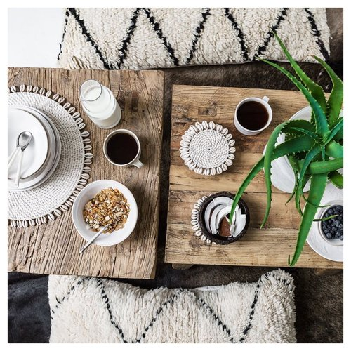 The Cowrie Placemat - White