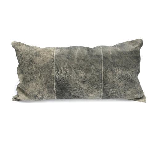 The Three Panel Suede Cushion - Grey
