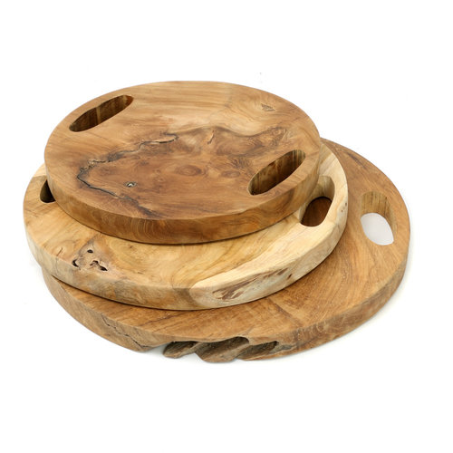 The Teak Root Tray - Natural - M