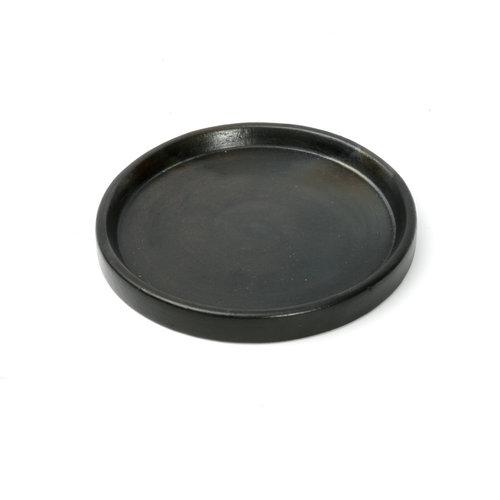 The Terracotta Burned Plate - Black - S