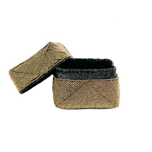 The Beaded Basket - Gold - SET3