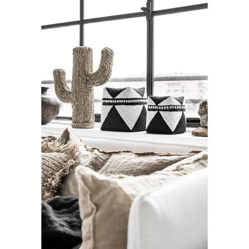 The Beaded Basket Cowrie Diamond High - Black White - SET3