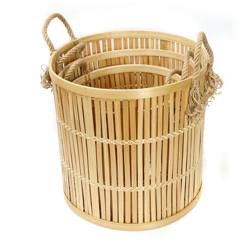 The Bamboo Baskets - Natural - Set 3
