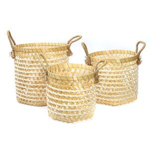 The Bamboo Macrame Baskets